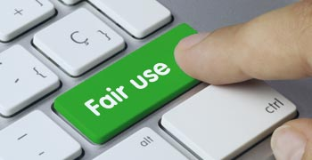 Fair use button on a keyboard
